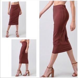 ❤️Midi Ribbed Pencil Skirt
